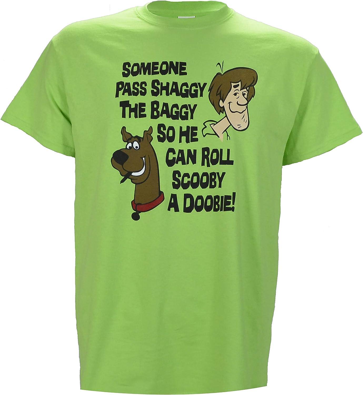 SHIRT WAREHOUSE Camisa Verde con Texto en inglés Someone Pass Shaggy The Baggy so He Can Roll Scooby a Doobie