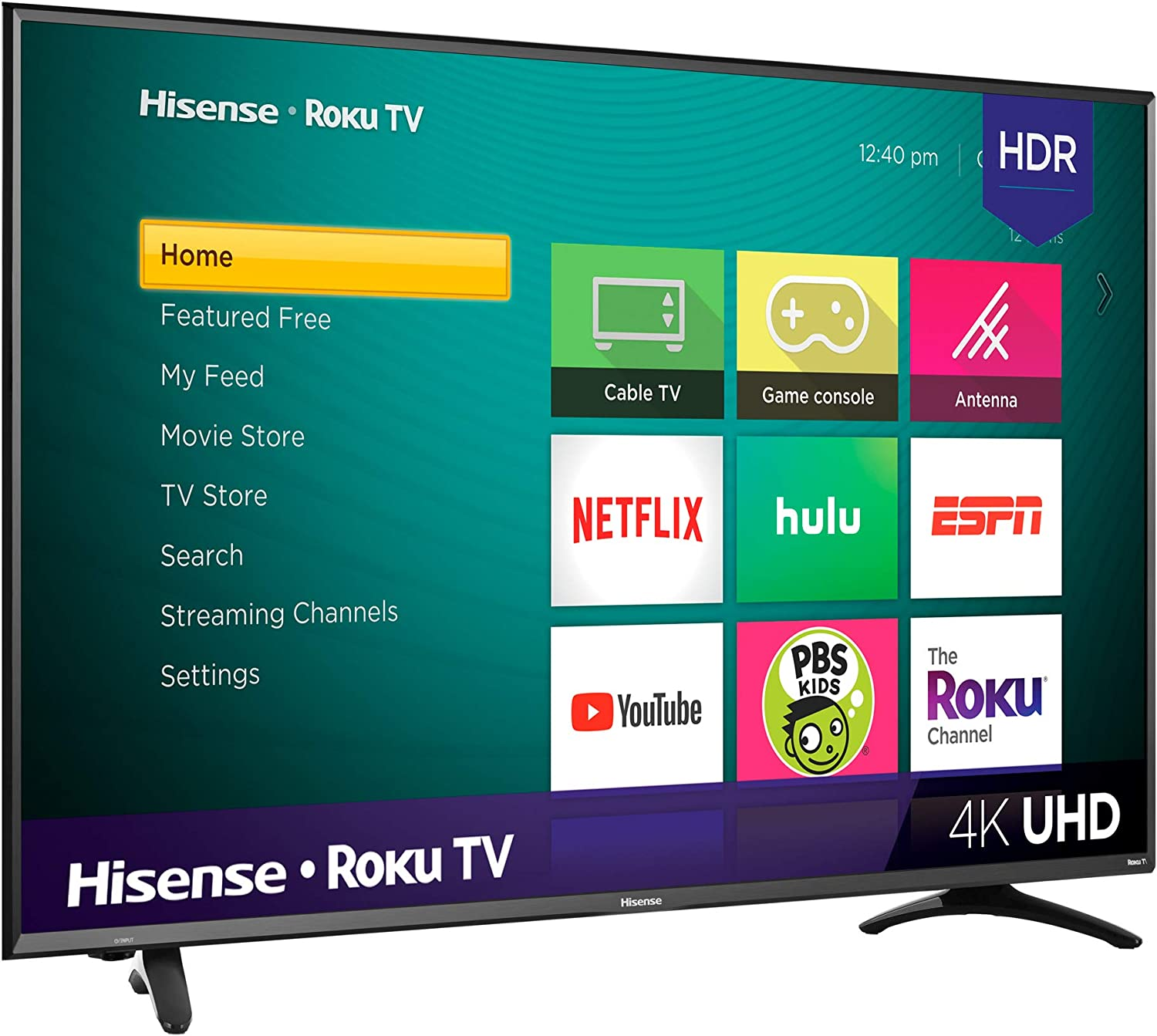 Hisense 4K Ultra HD Roku Smart LED TV HDR (2019): Amazon.es: Electrónica