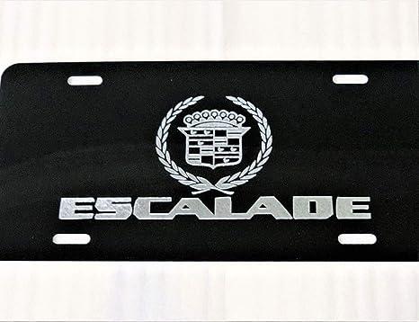 YAMAHA Car Tag Diamond Etched on Black Aluminum License Plate
