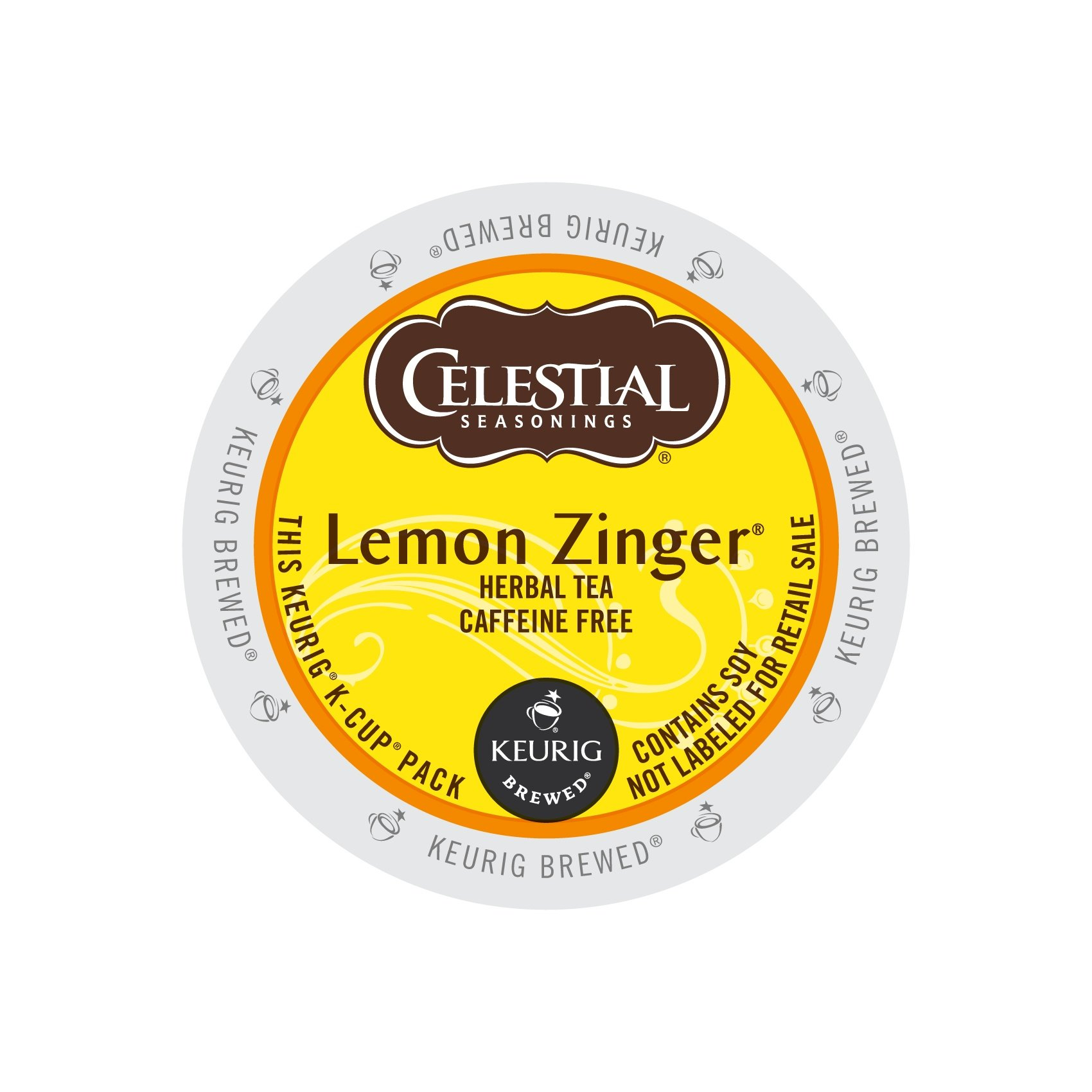 Celestial Seasonings 14732CT Lemon Zinger Herbal Tea K-Cups, 96/carton