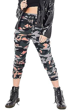 c1925c36711c Hosen Damen Elegant Fashion Vintage Camouflage-Muster Drucken High Waist  Elastische Freizeithose Apparel Mädchen Jungen