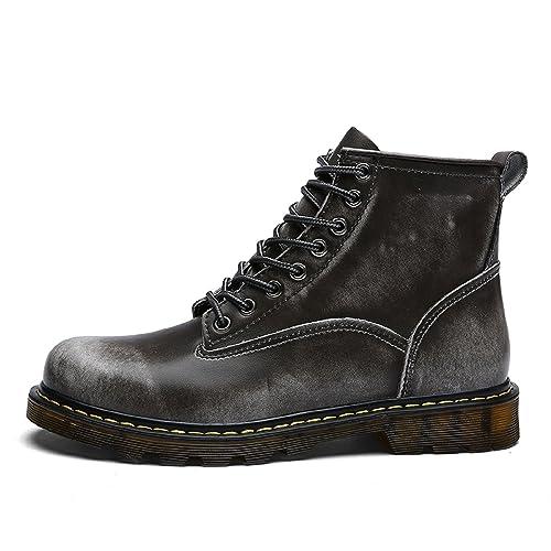 TQGOLD Bottes Homme Hiver Bottines Fourrées Boots en Cuir Imperméable  Chaussures à Lacets (38 EU 1dc7beaff843