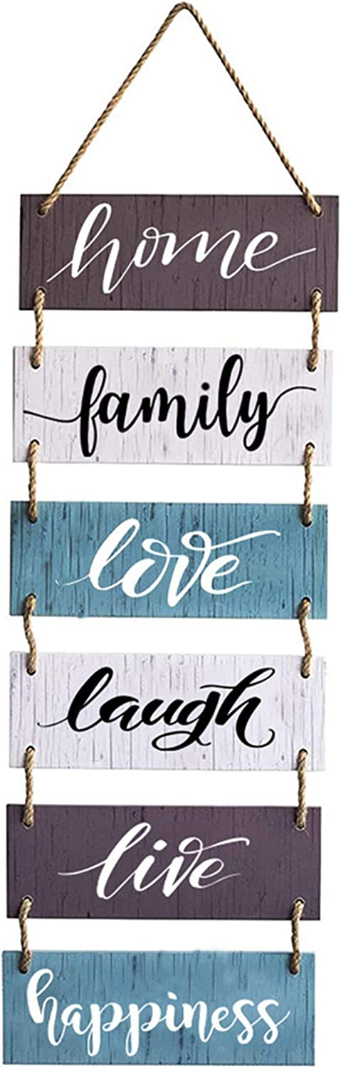 Cocomong Family Wall Decor, Large Wall Hanging Sign, Farmhouse Decor for Home, Living Room Rustic Wooden Decoration 32x11.8 Inch