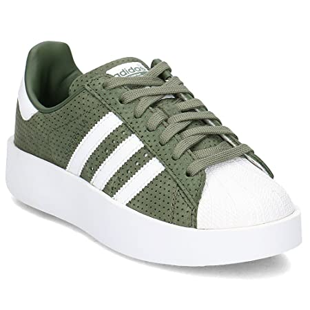adidas Women's Superstar Bold W Fitness Shoes, Various Colours  (Green-(Stmajo/