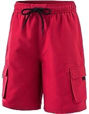 66aa3a43d9 TSLA Boy's Swimtrunks Quick Dry Board Shorts Water Beach Board Shorts Bottom