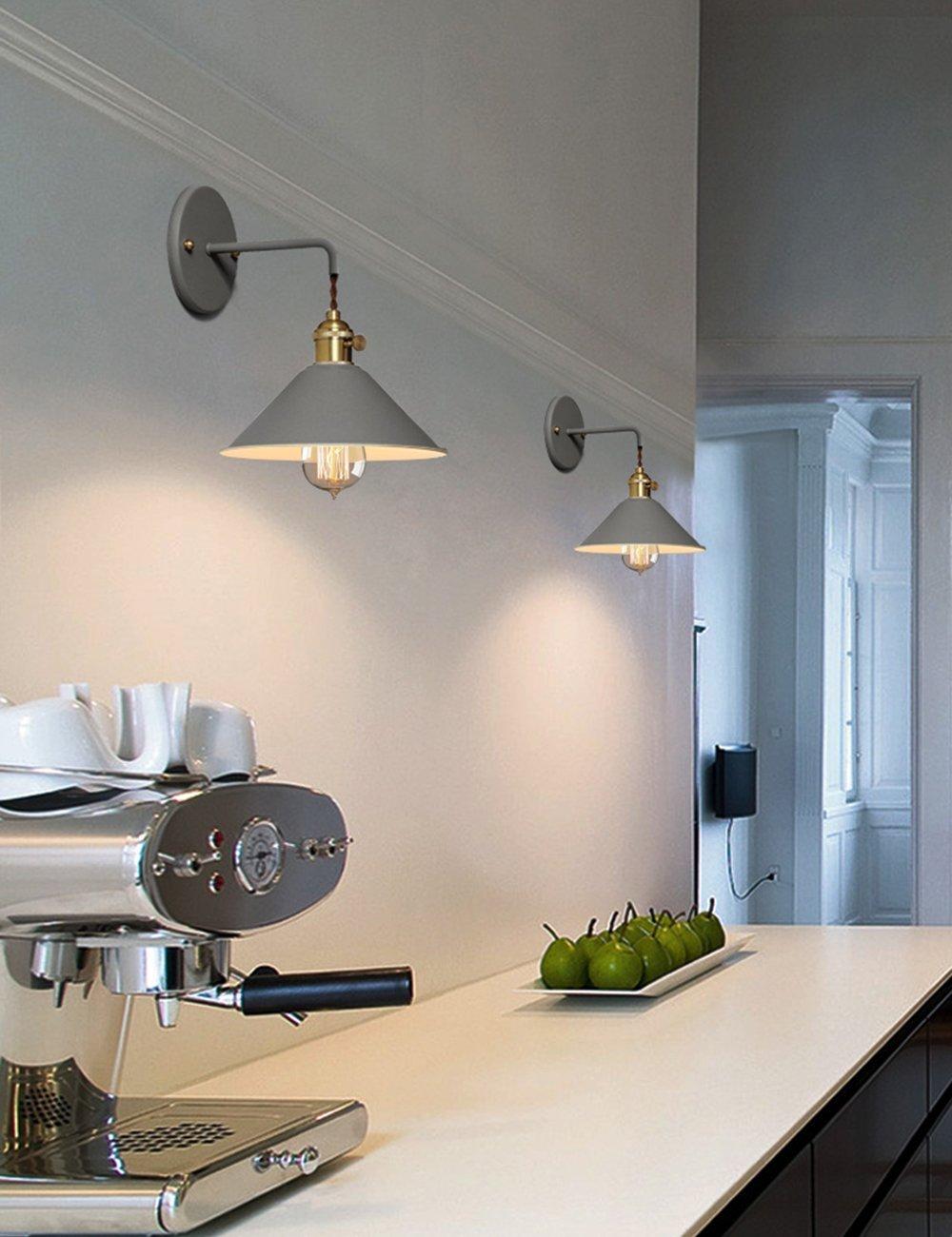 Industriale lampada da parete Applique da Parete Metallo Vintage Applique Industrial lampada a corridoio Retro applique lampade per illuminazione da parete