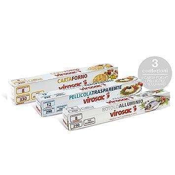 Virosac Kit de cocina: juego de rollo de papel para horno, papel ...