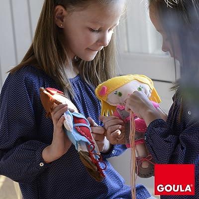 Goula Juego de manualidades para coser tu propia muñeca: Juguetes y juegos