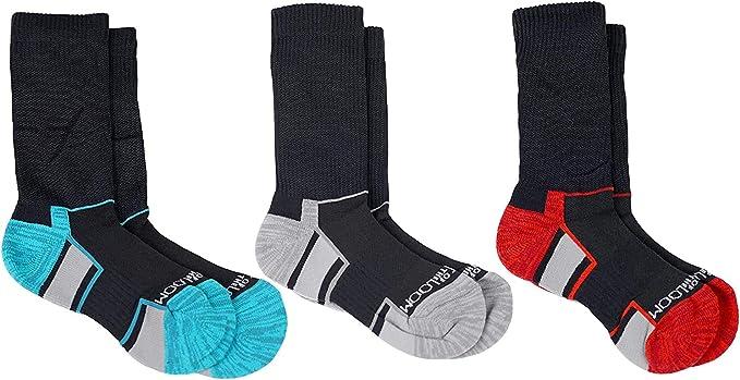 Fruit of the Loom Boys Breathable Cooling Nylon 3 Pack Crew Socks