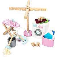 Le Toy Van Sugar Plum Laundry Room Set Premium Wooden Toys for Kids Ages 3 Years & Up