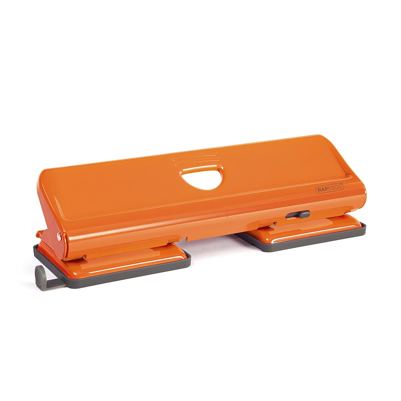 Black PAVO Premium20 Sheet Capacity 4-Hole Puncher with Lock