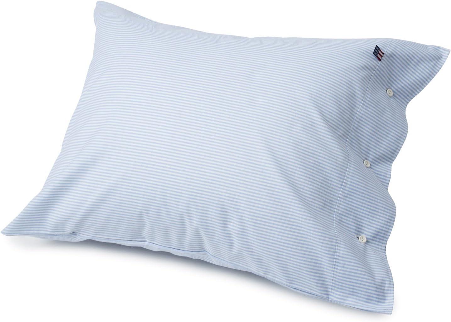 Blue//White Lexington Icons Pin Point Standard Pillowcase