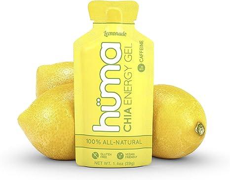 Huma Chia Energy Gel Lemonade 12 Packets 1x Caffeine Premier Sports Nutrition For Endurance Exercise Amazon Co Uk Health Personal Care