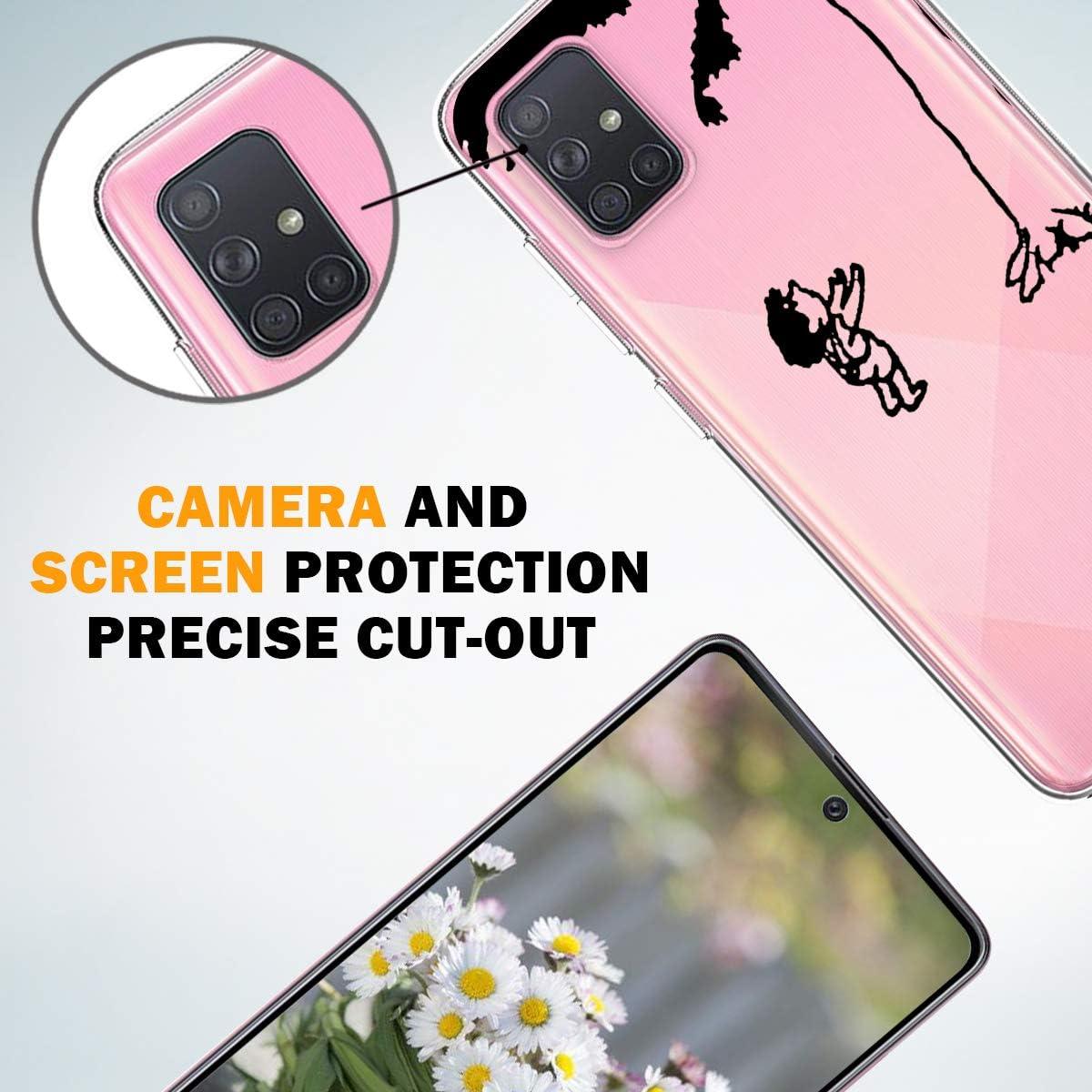 A71 H/üllen Original Design Durchsichtige Galaxy A71 Tasche Croazhi f/ür Handyh/ülle Samsung Galaxy A71 H/ülle Transparent Marmor Silikon Cover A71 H/ülle Blume Schutzh/ülle Case