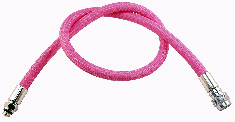 /Manguera de inflador Flex trenzado color rosa Bcd/