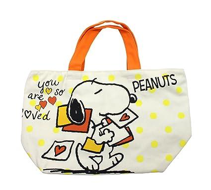 464d54e56e7a Amazon.com: Hatayama Shoji Peanuts Snoopy Canvas lunch tote bag D ...