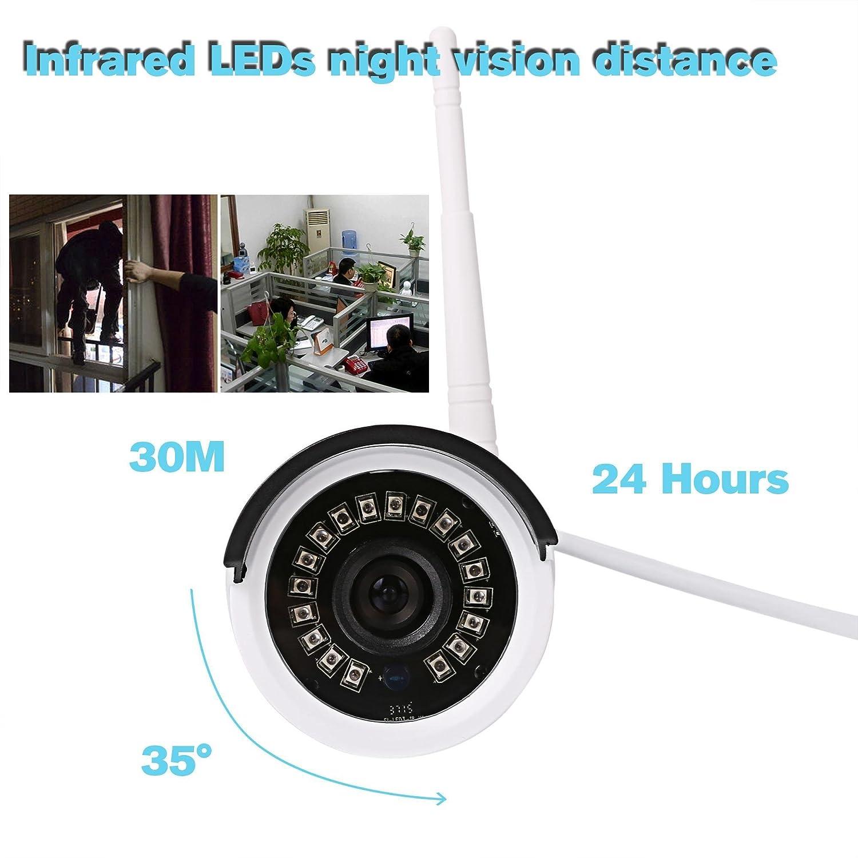 Lonlier HD Cámara de Seguridad IP Inalámbrica Impermeable Cámara de Vigilancia WiFi IR LED 6 mm Lente: Amazon.es: Ropa y accesorios