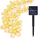 Amazon Price History for:Solar String Lights Outdoor, Oak Leaf 20 feet 30 LEDs IP44 Waterproof Crystal Flower LED String Lights for Patio,Garden,Tree Decor,Warm White