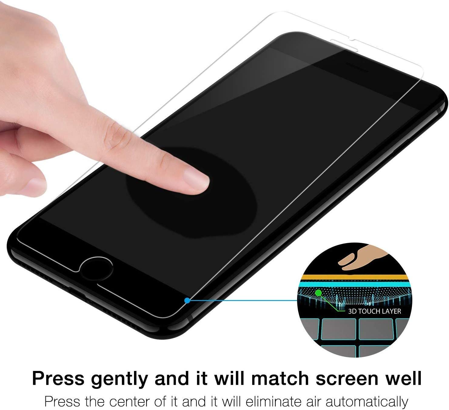 1 Pack The Grafu/® 9H Scratch Resistant Screen Protector Film for Apple iPhone X//iPhone Xs Drop Fall Protection iPhone X//iPhone Xs Tempered Glass Screen Protector