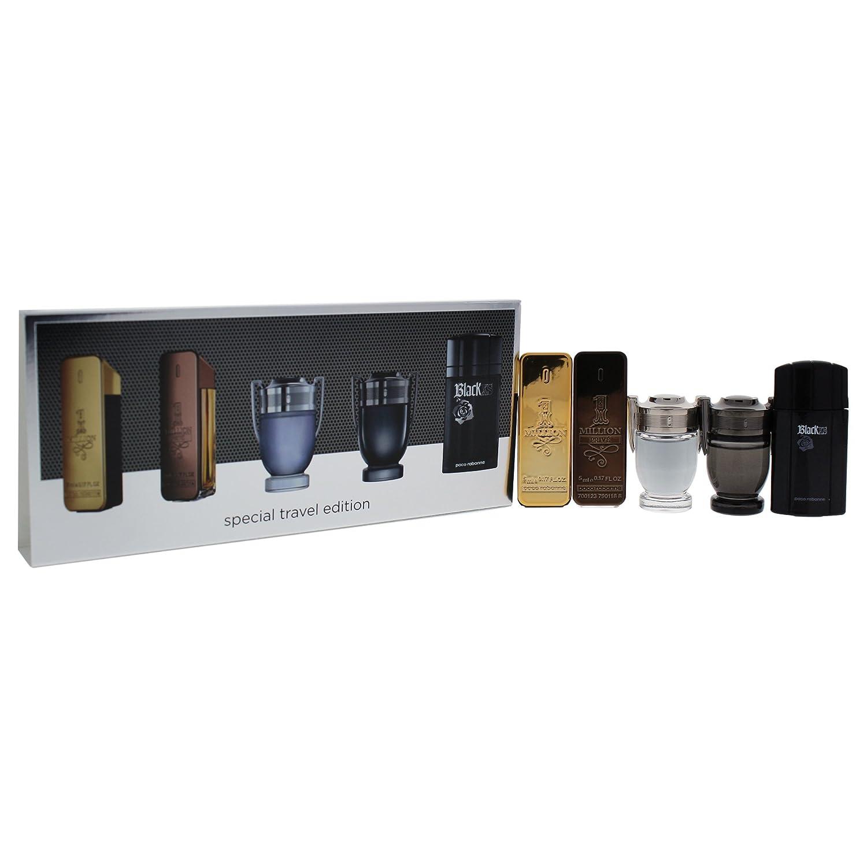 Paco Rabanne Miniatures Gift Set 5ml 1 Million EDT + 5ml 1 Million Prive EDP + 5ml Invictus EDT + 5ml Invictus Intense EDT + 5ml Black XS EDT: Amazon.es: ...