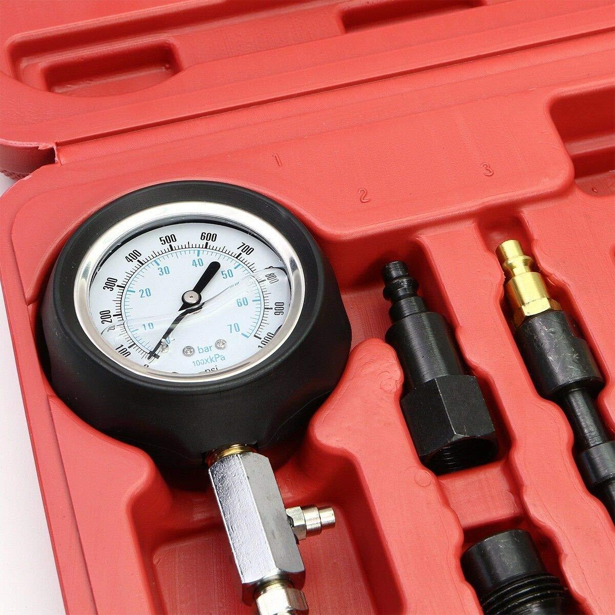 XtremepowerUS 14 Piece Professional Diesel Engine Compression Tractor Semi Tester Test Set Kit