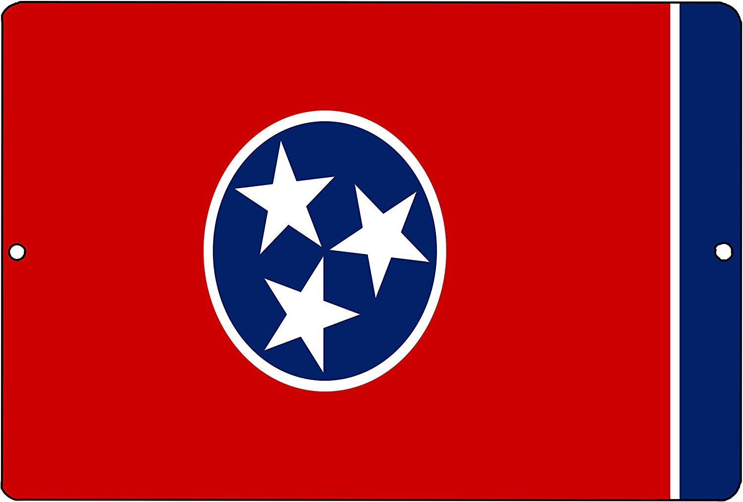 Rogue River Tactical Tennessee State Flag Metal Tin Sign Wall Decor Man Cave Bar TN