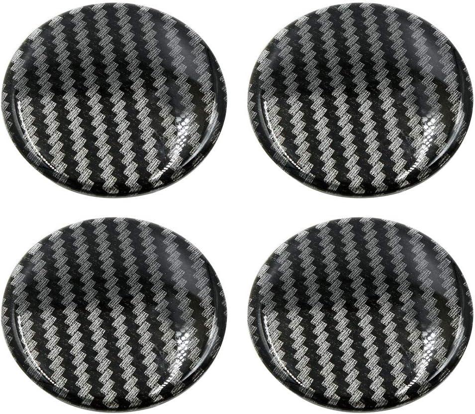 X AUTOHAUX 45mm Silver Tone Car Wheel Center Hub Caps Sticker Emblem Badge 4pcs