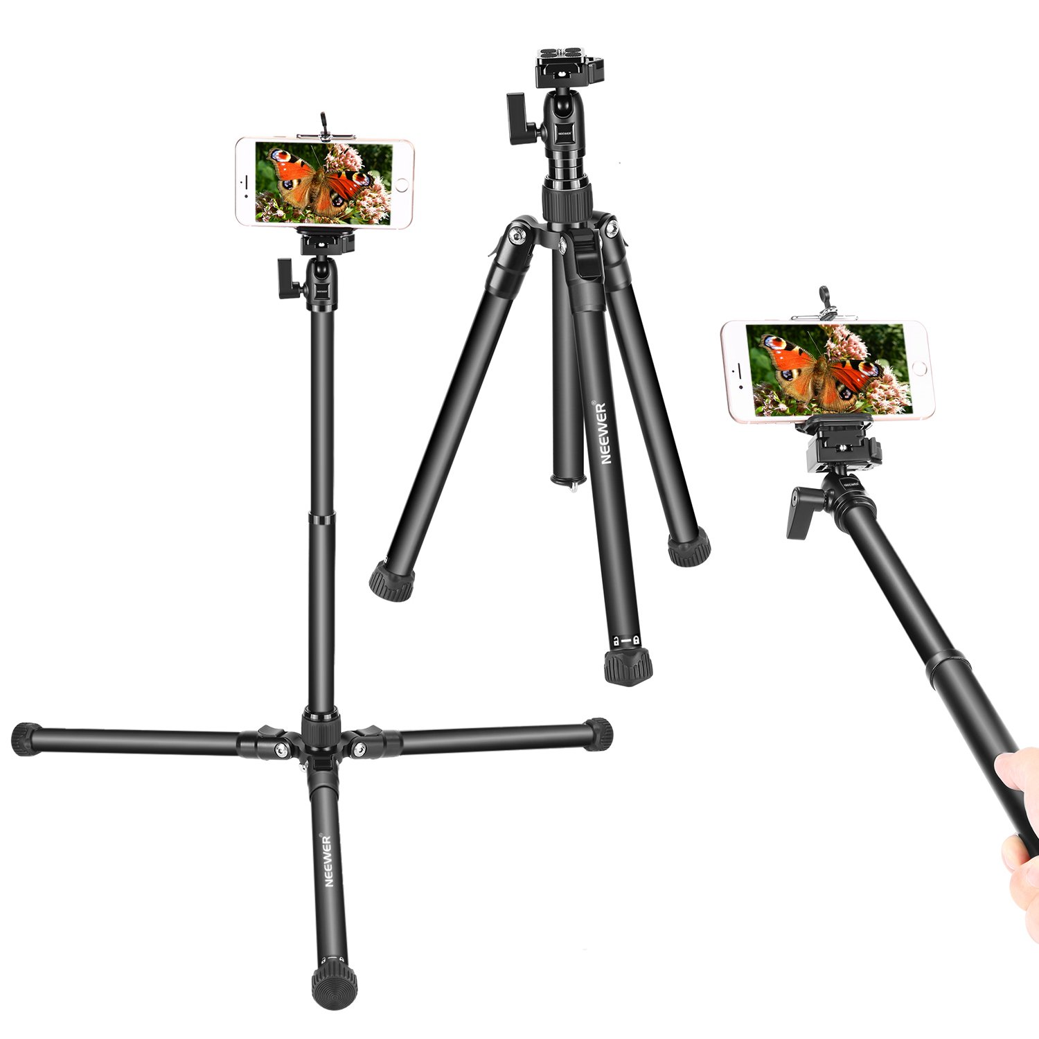 Neewer Portable Camera Tripod Extendable Selfie Stick with..