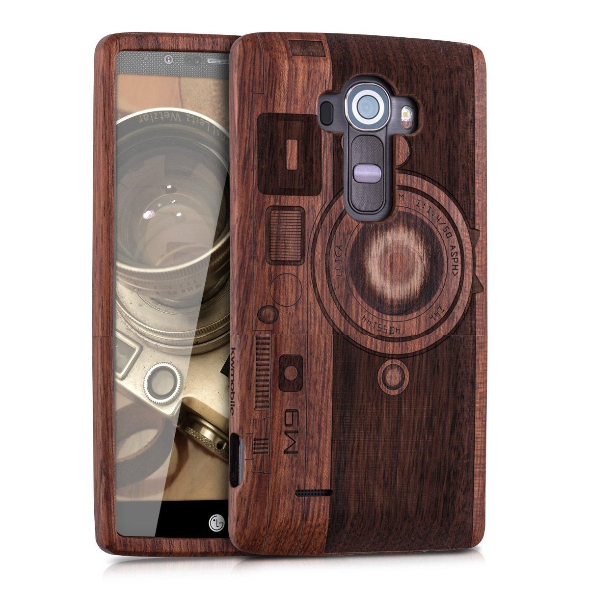 kwmobile Funda para LG G4 - Carcasa de [Madera] para móvil ...