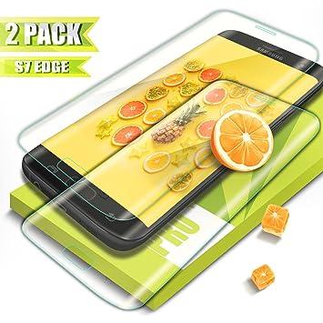 Kiomi Protector de Pantalla Galaxy S7 Edge, (2 Pack)Ultra-trasparente,