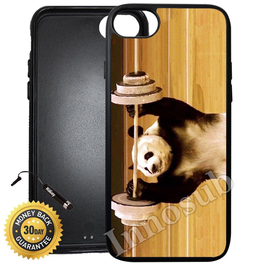 Amazoncom Custom Iphone 8 Case Panda Lifting Weights Edge To