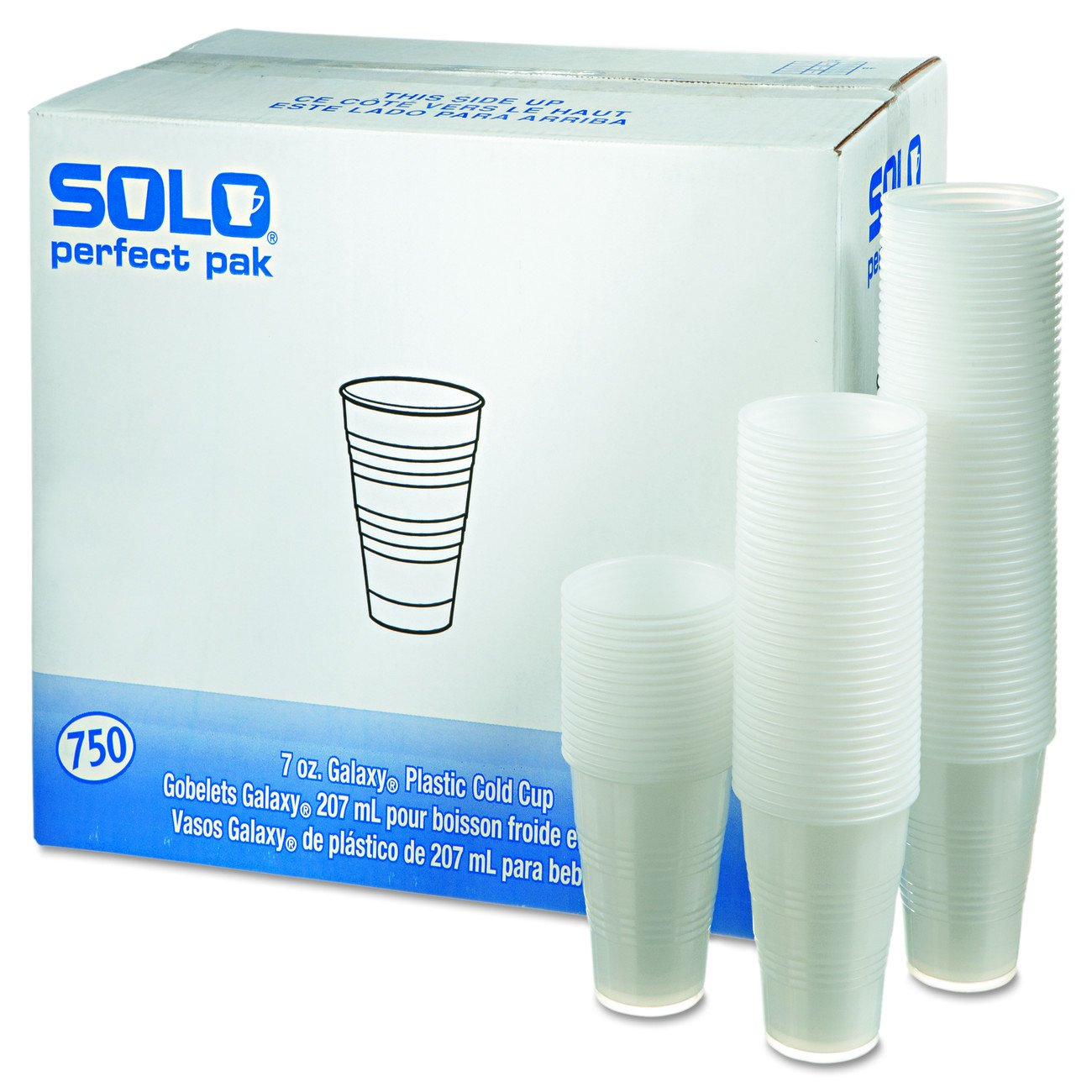 Dart Y7PFTPK Perfect Pack 7 oz Trans Ribbed Wall PS Cup (Case of 750): Amazon.com: Industrial & Scientific