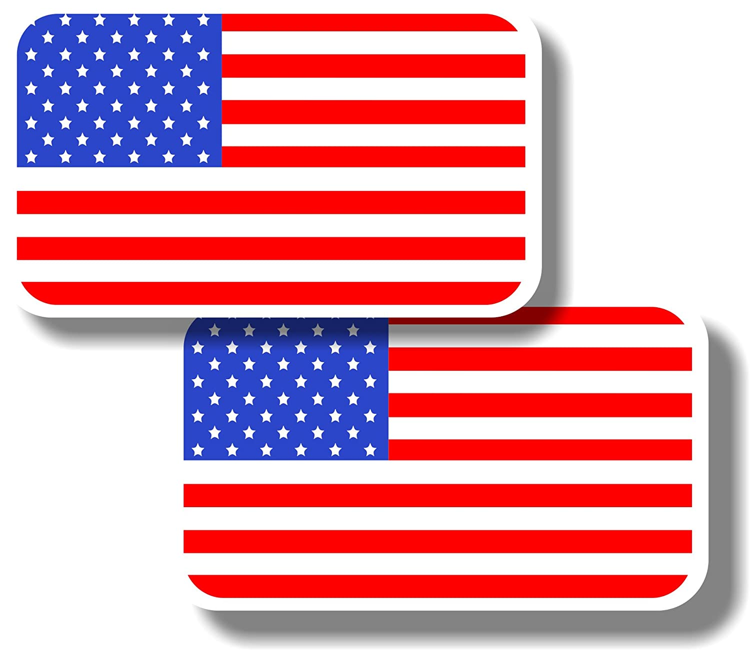 Vinyl sticker/decal Small 70mm USA flags - pair Graphic Effects