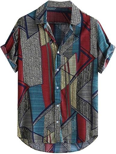 Camisa Hawaiana Hombre, Dragon868 Vintage Retro Camisas de Manga Corta, Camisa Estampada para Playa de Verano, Botón Informal Abajo Blusa Tops, Camisas de Solapa Hawaianas Hombre, M-XXXL: Amazon.es: Ropa y accesorios