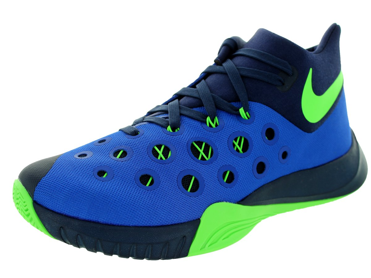 NIKE Men's Zoom Hyperquickness 2015 Basketball Shoe B00Q5OILJC 9.5 D(M) US|Blue