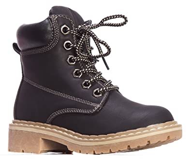 Women's Combat Lace Up Padded Outdoor Work Shoes Ankle Short Boots