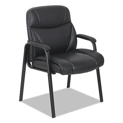 Alera ALEVN4319 Leather Guest Chair, Black