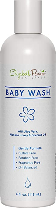 Eczema Relief Body Wash for Baby - Eczema Calming Organic Body Wash with Manuka Honey - Hypoallergenic & Gentle Formula for Sensitive Skin - Soothes Rashes, Cradle Cap, Dry & Itchy Skin (4 oz)