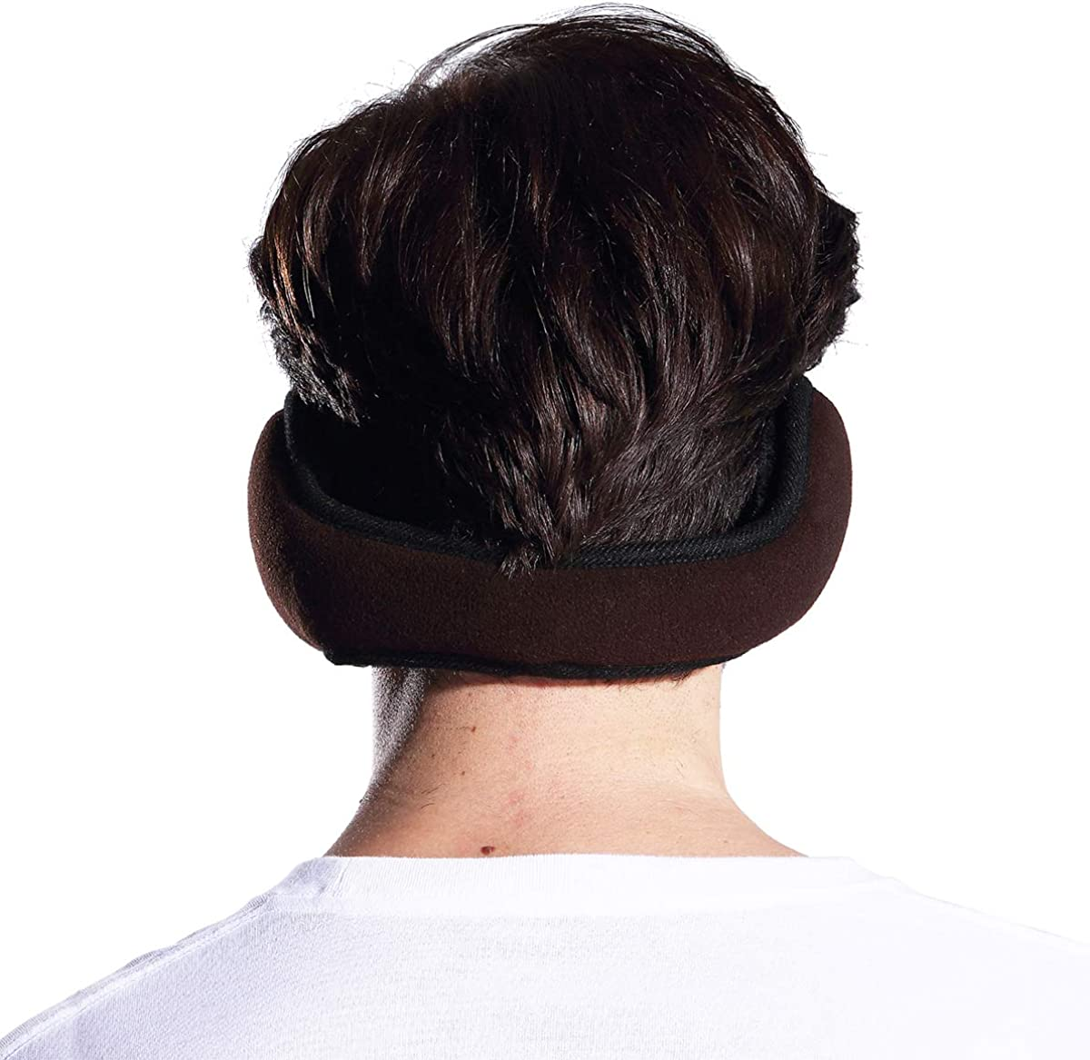 Metog Unisex Foldable Ear Warmers Polar Fleece Winter Earmuffs Coffee at  Women's Clothing store
