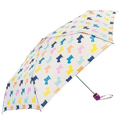 El mundo del paraguas – estampado pequeños perros colorés – Susino Paraguas plegable, 24 cm