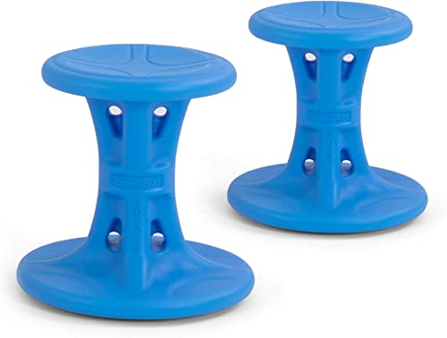 Simplay3 Wiggle Wobble Kids Flexible Active Sitting Chair Stools 2-Pack to Improve Focu