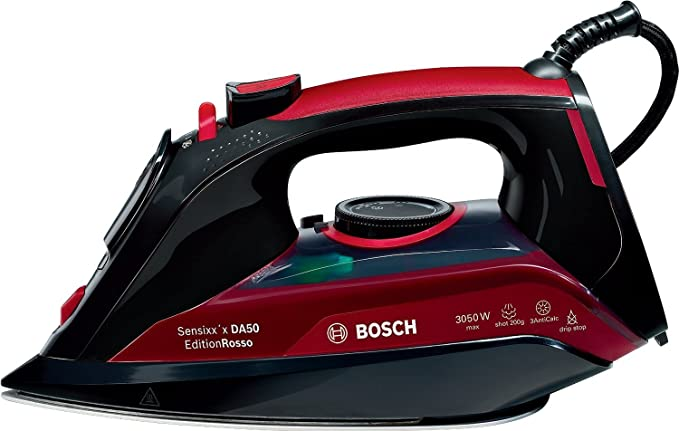 Bosch TDA5070GB Steam Iron, 3050 W, Black/Red [Energy Class A+++]