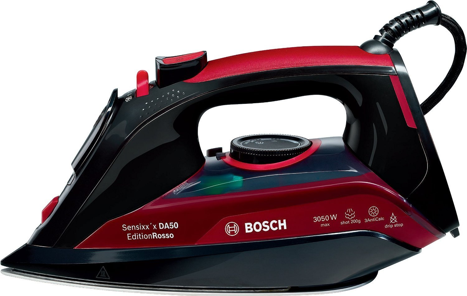 Bosch TDA5070GB Steam Iron, 3050 W - Black/Red and Ironing Board Bundle