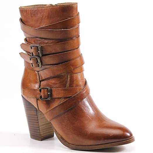 Just In Leather Buckled Boot