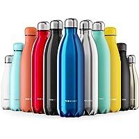 Proworks Bottiglia Acqua in Acciaio Inox, Senza BPA Vuoto Isolato Borraccia Termica in Metallo per Bevande Calde per 12 Ore & Fredde 24 Ore, Borraccia Sport, Lavoro e Palestra - 350ml/500ml/750ml/1L