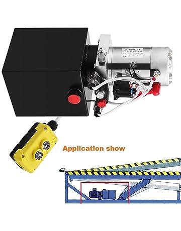 Autovictoria Bomba Hidraulica De Doble Efecto Bomba Hidraulica 12V Dump Trailer 4L Reservoir Controlado Remotamente (