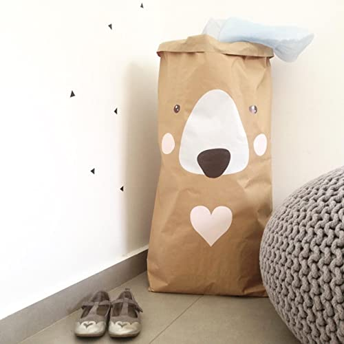 Merveilleux Personalized Nursery Paper Bag, Kids Room Toy Storage Bag, Custom Kraft Paper  Bag,
