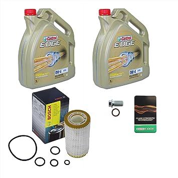 1 x Set de aceite - BOSCH aceite + 10 L Castrol Edge ...