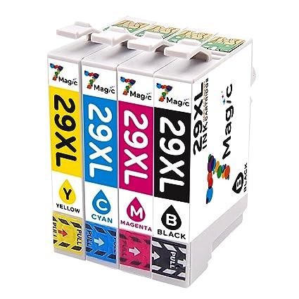 7Magic 29 29 XL Cartucho de tinta Compatible con Epson 29 XL Tinta de gran capacidad, Compatible con Epson Expression Home XP-235 XP-245 XP-335 XP-437 ...