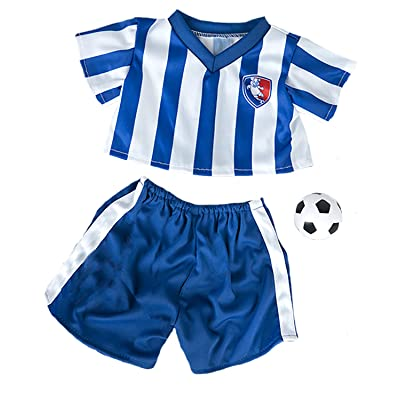 "All Star Soccer Uniform Fits Most 14"" - 18"" Build-a-bear and Make Your Own Stuffed Animals : Toys & Games"